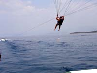 I am sailing, parasailing...